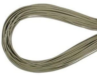 2mm Gray Green Greek Leather Round Cord 43246 (5 meters), Round Leather Cording, Greek Leather Cord, Supple Leather Cord, Greek Cording