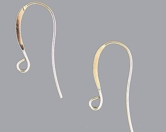 French Hook Earrings Gold Plated 41032 (144) Shiny Earrings, Gold Earring Hooks, Long Earrings, Earring Components, Gold Plated Earrings