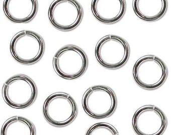 8mm JumpLocks 16ga Jump Rings 41407 (50) Sterling Silver Open Jump Rings, Jump Lock Jump Rings, Round Jump Rings, 16 Gauge JumpLocks