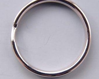 24mm (1in) Round Key Split Rings 42132 (144) Silver Round Key Rings, Silver Key Rings, Round Keyrings, Lanyard Rings, 1 inch Key Rings