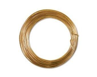 Anodized Aluminum Wire 12 Gauge Tangerine 41383 , Jewelry Wire, Craft Wire, Round Wire, Aluminium Wire, Soft Temper Wire, Anodized Wire