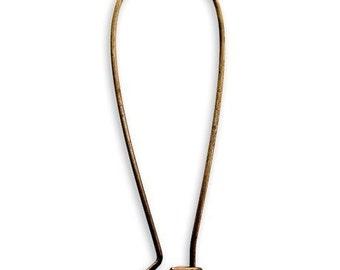 Vintaj Natural Brass Long Arched Earrings 61149 (1pr) Brass Earwires, Closed Hook Earrings, Vintaj Ear Wires, Vintaj Earrings