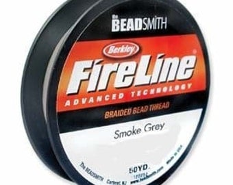FireLine Braided Beading Thread Size D .008 50yd Gray 41449