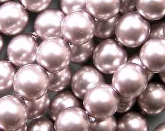 Czech Glass Pearls Beads 6mm Silver 17643 , SIlver Pearls, 6mm Round Beads, 6mm Pearl Beads, Preciosa Beads, Czech Pearl Beads, Czech Beads