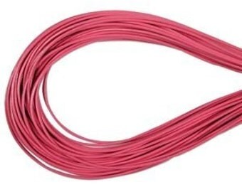 1.5mm Pink Greek Leather Round Cord 41537 (5 meters), Jewelry Cording, Necklace Cord, Bracelet Cording, 1.5mm Cording, 1.5mm Leather Cord