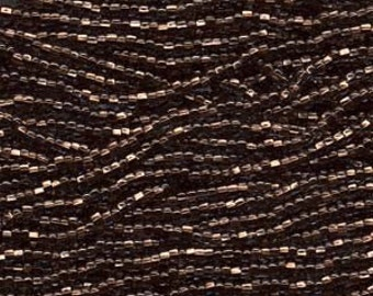 Czech Seed Beads 11/0 Copper Lined Black Diamond 31106