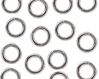 JumpLocks 4mm 20ga Jump Rings Sterling 41406 (50)