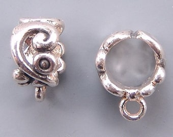 Bali Round Bails Sterling Silver B1150 (3) 5mm Opening, Closed Loop Bails