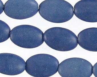 Lapis Lazuli 12mm Flat Oval Gemstone Beads 71736