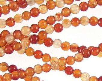 Red Agate 4mm Round Gemstone Beads 78279