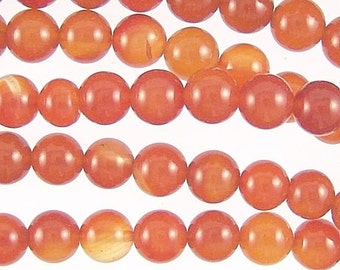 Red Agate 8mm Round Gemstone Beads 78276