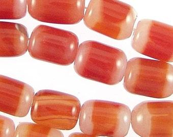 Red Agate 18mm Drum Gemstone Beads 78284