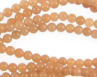 Carnelian 6mm Round Gemstone Beads 78154