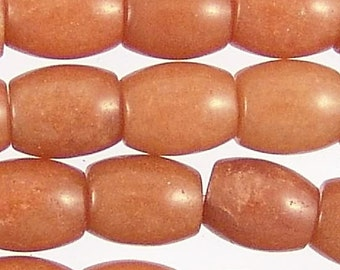 Carnelian 12mm Drum Gemstone Beads 71652