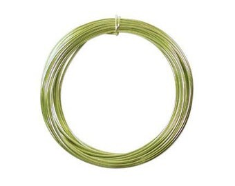Anodized Aluminum Wire 12 Gauge Apple Green 41384 , Jewelry Wire, Craft Wire, Round Wire, Aluminium Wire, Soft Temper Wire, Anodized Wire