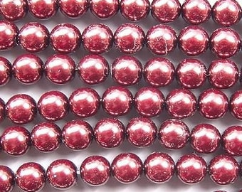 Czech Glass Pearls Beads 6mm Chocolate Brown 18078  , 6mm Round Beads, 6mm Pearl Beads, Preciosa Beads, Czech Pearl Beads, Brown Czech Beads