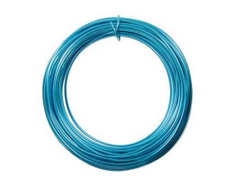 Anodized Aluminum Wire 12 Gauge Turquoise 41272 , Blue Jewelry Wire, Craft Wire, Round Wire, Aluminium Wire, Soft Temper Wire, Anodized Wire