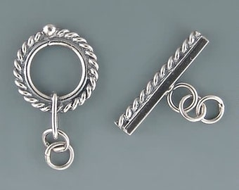 Bali Edged Toggle Clasp Sterling Silver B1650 (1)