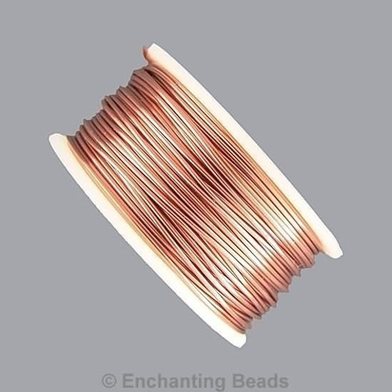 Artistic wire 22 gauge natural copper 41012 tarnish for 22 gauge craft wire