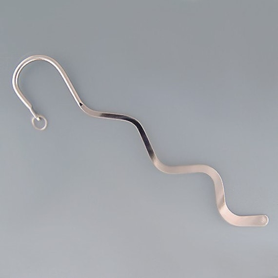 Curving 6inch Bookmarks Silvertone 42437 (2) Bright and Shiny