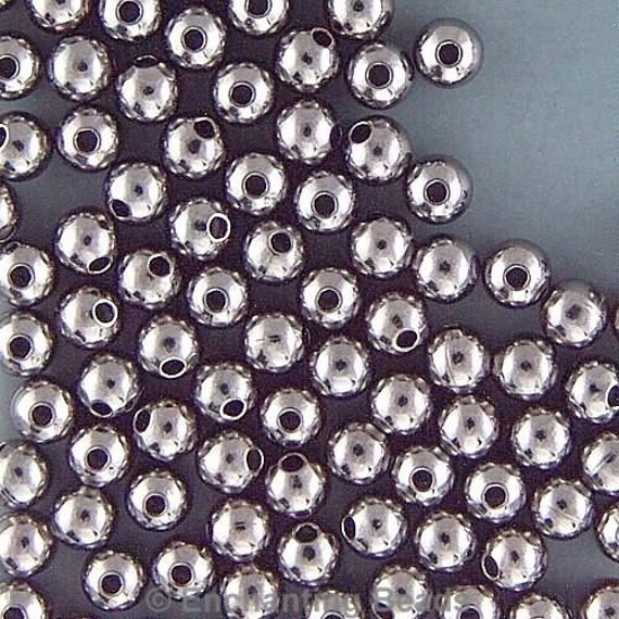 Black Oxide 3mm Round Beads 42976 (288) Black Beads, Small Beads, Round Beads, Smooth Beads, Spacer Beads Metal Beads