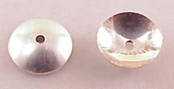 4mm Simple Bead Caps Sterling Silver 41064 (50)