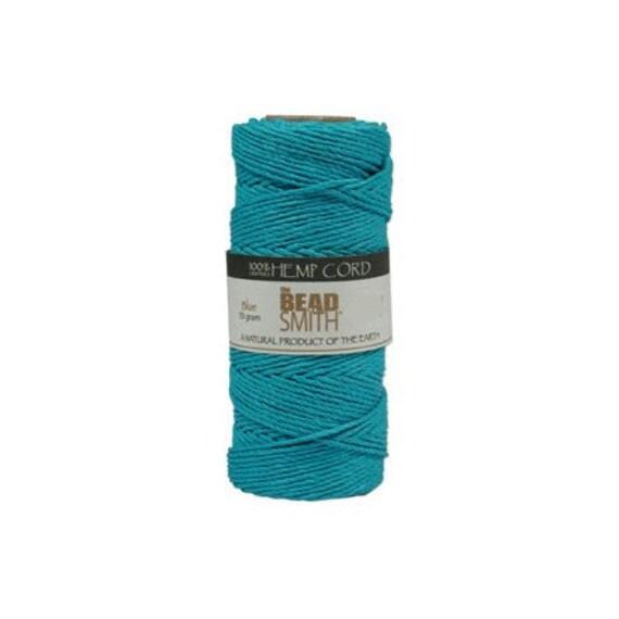Turquoise Blue Hemp Cord 0.5mm Diameter, 394ft  41594 Round