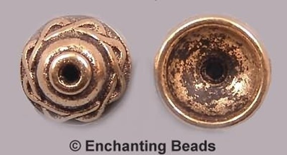 Celtic Bead Caps Gold-Plated Pewter P854 (8)