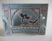 Little Magpie Engagement Card