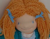 15 inch (38cm) Natural Waldorf doll w blue eyes and red curly hair