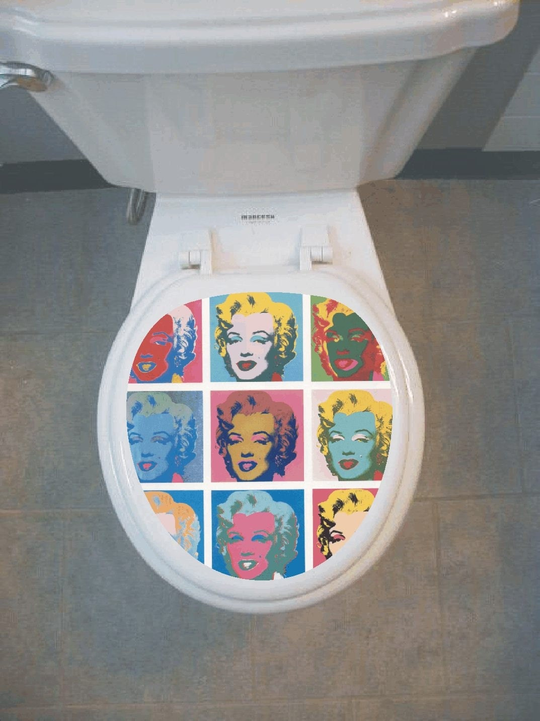 andy warhol marilyn monroe set bathroom toilet seat decal. Black Bedroom Furniture Sets. Home Design Ideas