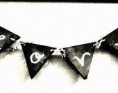 Erasable Re-useable Chalkboard Banner with 6 triangles