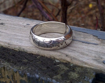 Sterling Silver Adjustable Mantra Ring Blackmaille Jewellery