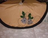 CHRISTMAS TREE SKIRT.  Original Hand Sewn Decoration,  Price Cut  Free Shipping