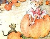 1 Tiny Pumpkin Fairy Princess Postcard.......
