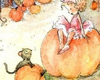 1 Tiny Pumpkin Fairy Princess Postcard.......