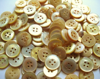 40 Vintage Mother of Pearl Buttons Great for Dolls Mixed Media Jewelry Altered Art Quilting and Much More