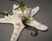 Sea Horse pendant Lampwork Focal bead Glass Pendant Sea Horse Necklace