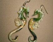 Glass Sea Horse Earrings