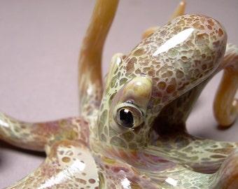 Octopus Sculpture Art  Realistic Eyes glass octopus
