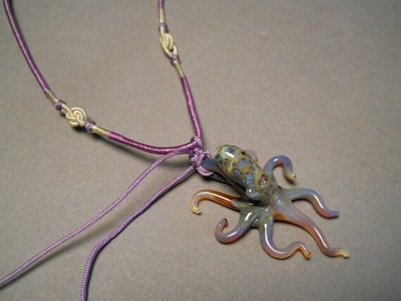 Glass Octopus Pendant Necklace