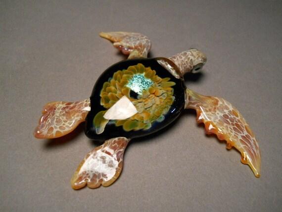 Glass Sea Turtle Sculpture