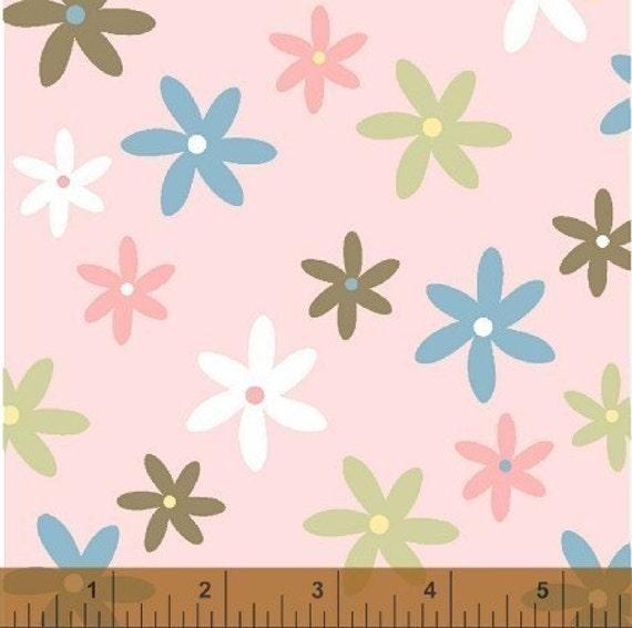 Charm Bracelet Windham Fabrics Baum Textiles flowers on pink