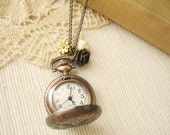 time of your life - lovely pocket watch clock necklace.
