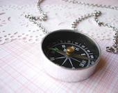 tuesday morning - navigation compass necklace.