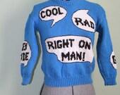 1970s Novelty Sweater - Hey Dude