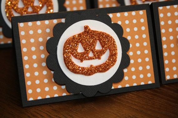 Set of 4 Halloween Treat Toppers