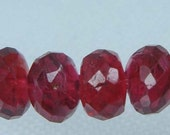 RED SPINEL FACETED RONDELLE BEADS