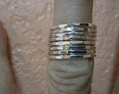 Double Stacker of 8 Rings Made of Sterling Silver