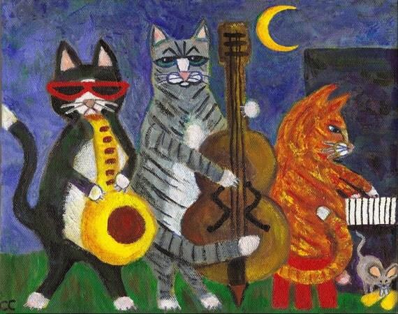 Jazz Cats PRINT 8x10